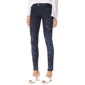 J Brand Indigo Blossom Mid-Rise Skinny Jeans